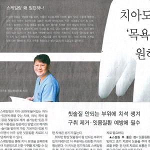 중도일보 기사 [충청명의] 치아도 '목욕'을 원해요- 2006년 11월 9일